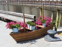 Flowers boat Stock Photos