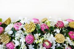 Flowers border background Royalty Free Stock Photo