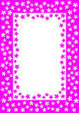 Frame with pink and white flowers Stock Images