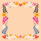 Flowers border Stock Images