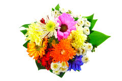 Flowers bouquet. Beautiful colourful bouquet of various flowers Stock Image