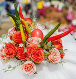Flowers bouquet arrange for decoration. In home Royalty Free Stock Image