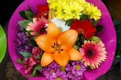 Flowers bouquet arrange for decoration Royalty Free Stock Image