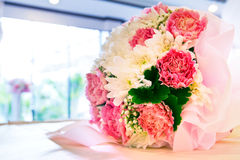 Flowers bouquet arrange for decoration in home Stock Photos
