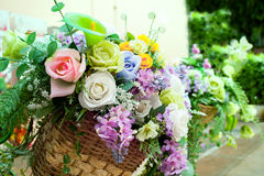 Flowers bouquet arrange for decoration in home garden Royalty Free Stock Images