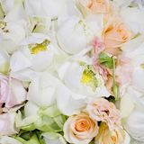 Flowers bouquet arrange for decoration in wedding ceremony Stock Photography