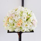 Flowers bouquet arrange for decoration in wedding ceremony Stock Image