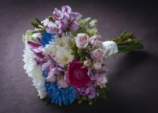 Flowers bouquet. Beautiful and delicate bouquet of flowers for bride Stock Image