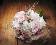 Flowers bouquet. Beautiful and delicate bouquet of flowers for bride Stock Photo