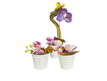 Flowers bouquet and decorative vase Royalty Free Stock Photos