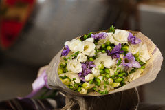 Flowers bouquet of freesia. Flowers bouquet of fresia in interior Stock Image