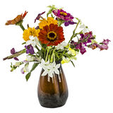 Flowers bouquet, isolated on white background Stock Image