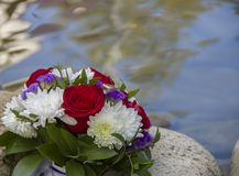 Flowers. Bouquet of flowers on the lake Stock Photos
