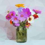 Flowers Bouquet Low Poly Stock Image