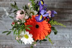 Bright bouquet of flowers stock photography