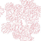Flowers bouquet pattern Royalty Free Stock Photos