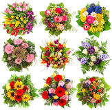 Flowers bouquet for spring and summer holidays. Floral objects Royalty Free Stock Photos