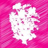 Flowers bouquet stencil Stock Photography
