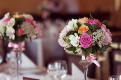 Flowers bouquet table ornament Royalty Free Stock Image