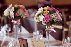 Flowers bouquet table ornament Stock Photos