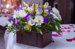 Flowers, bouquets of flowers on the table Stock Image