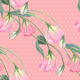 Flowers, buds and leaves - drawing by watercolor. Aquilegia.Watercolor background. Abstract wallpaper with floral motifs.  Seamles Royalty Free Stock Photo