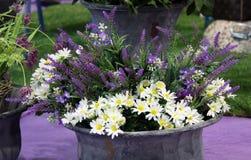 Flowers buquet in the vase Stock Photos