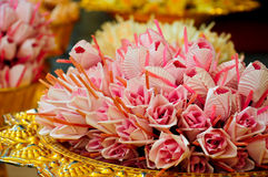 Flowers of burial. Buddhism use these flowers in burial Royalty Free Stock Photography
