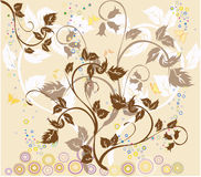 Flowers and butterflies royalty free illustration