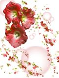 Flowers and butterflies royalty free stock photos