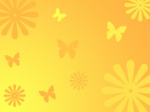 Flowers and butterflies background Stock Photos