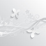 Flowers and butterflies background Royalty Free Stock Photography