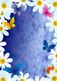 Flowers and butterflies grunge style spring background vintage p Royalty Free Stock Photography
