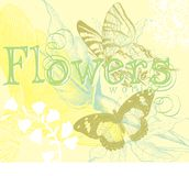 Flowers and butterfly Royalty Free Stock Photos