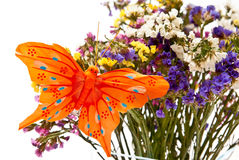 Flowers and butterfly Royalty Free Stock Photo