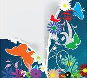 Flowers and butterfly decoration Stock Photography