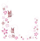 Flowers, butterfly Royalty Free Stock Image