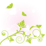 Flowers and butterfly. Vector card Stock Image