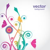 Flowers and butterfly. Vector card Stock Photography