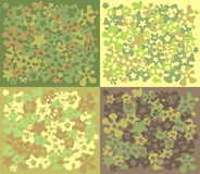 Flowers-camouflage. Flowers camouflage. Seamless pattern. Vector illustration Stock Image