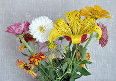 Flowers and canvas Royalty Free Stock Photo