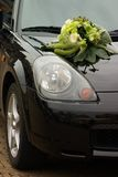 Flowers on car Stock Photography