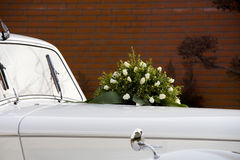 Flowers on car Royalty Free Stock Images
