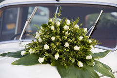 Flowers on car Stock Images