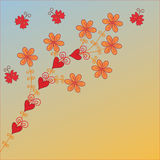 Flowers card Stock Images