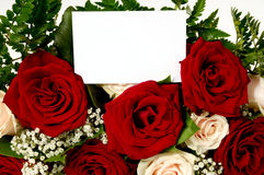 Flowers and card Stock Photo