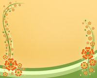Flowers card Royalty Free Stock Image