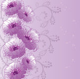 Flowers card Royalty Free Stock Photography