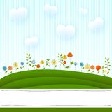 Flowers card Stock Image