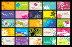 Flowers card design stock illustration